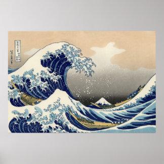 The Great Wave off Kanagawa, Hokusai Poster