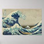 The Great Wave off Kanagawa (Hokusai) Poster
