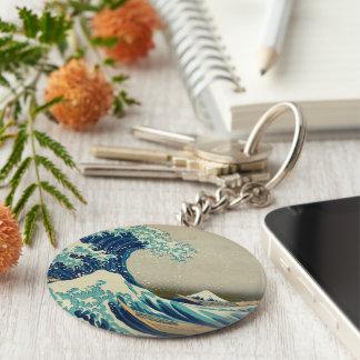 The Great Wave off Kanagawa Keychains