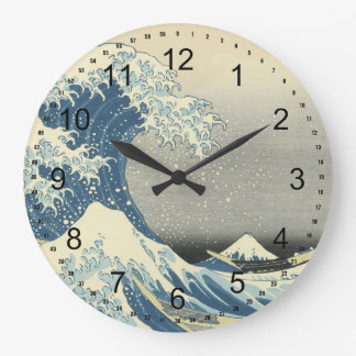 The Great Wave off Kanagawa Large Clock