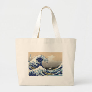 The Great Wave off Kanagawa Large Tote Bag