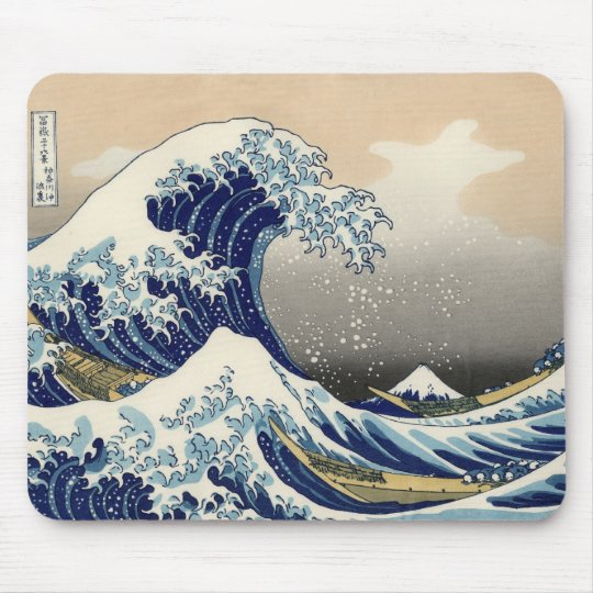 The Great Wave Off Kanagawa Mousepad