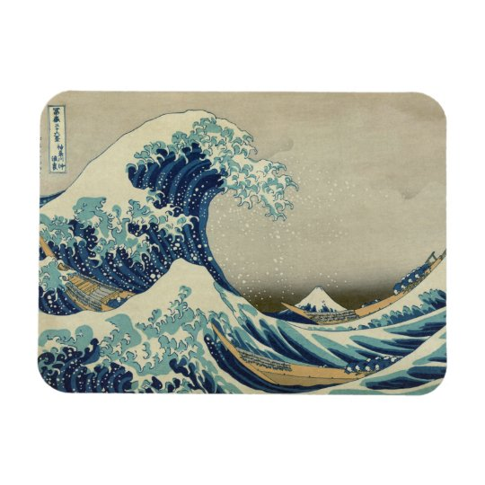 The Great Wave off Kanagawa Rectangular Photo Magnet