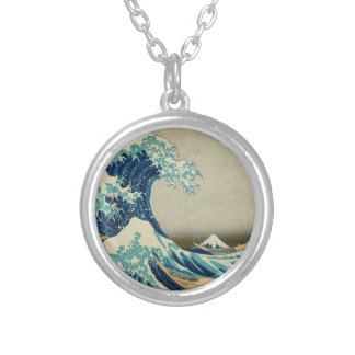 The Great Wave off Kanagawa Silver Plated Necklace