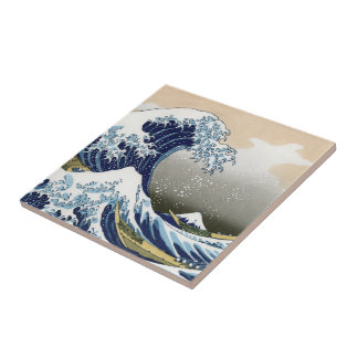 The Great Wave Off Kanagawa Small Square Tile