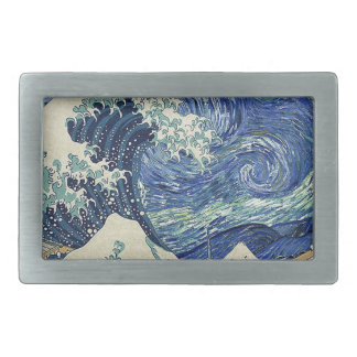 The Great Wave Off Kanagawa - The Starry Night Belt Buckles