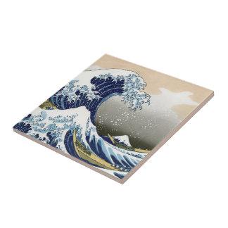 The Great Wave Off Kanagawa Tile