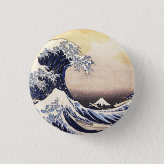 The Great Wave Off Kanagawa Vintage Japanese Art 3 Cm Round Badge