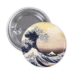 The Great Wave Off Kanagawa Vintage Japanese Art 3 Cm Round Badge