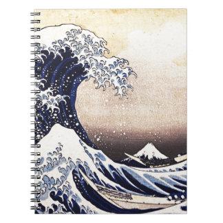 The Great Wave Off Kanagawa Vintage Japanese Art Notebook