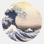 The Great Wave Off Kanagawa Vintage Japanese Art Round Sticker
