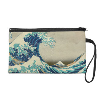 The Great Wave off Kanagawa Wristlet Clutches