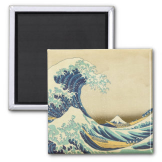 The Great Wave Off Shore of Kanagawa Square Magnet