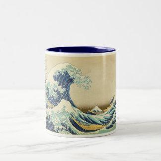 The Great Wave Off Shore of Kanagawa Two-Tone Coffee Mug
