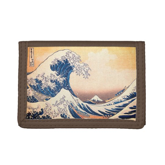 The Great Wave Tri-fold Wallets
