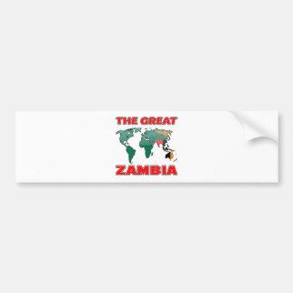 The Great ZAMBIA. Bumper Sticker