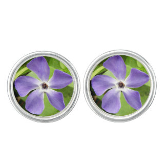 The Greater Periwinkle Cufflinks