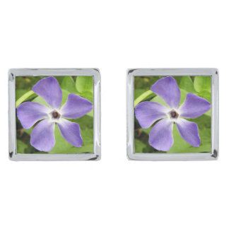 The Greater Periwinkle Cufflinks Silver Finish Cufflinks