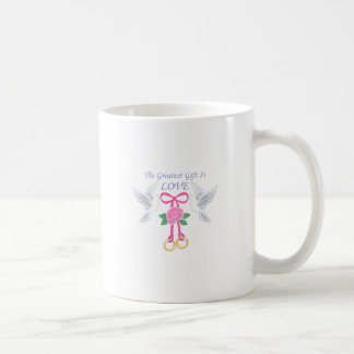 THE GREATEST GIFT IS LOVE MUGS