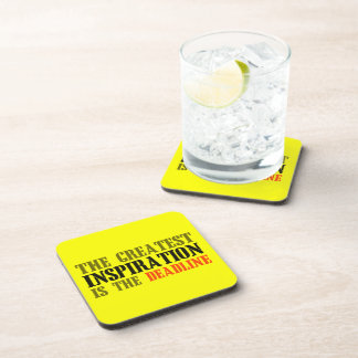 THE GREATEST INSPIRATION IS DEADLINE FUNNY MEME COASTER