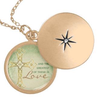 The Greatest is Love- Cross Locket