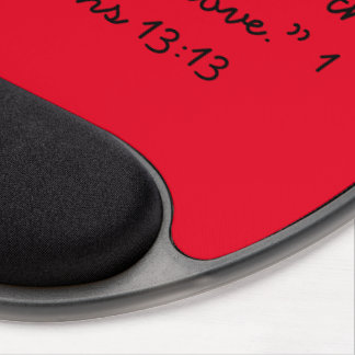 """""""The Greatest is Love"""" Motivational Gel Mousepad"""