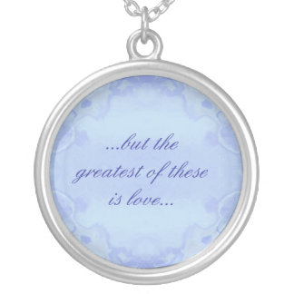 The Greatest of These is Love Round Pendant Necklace