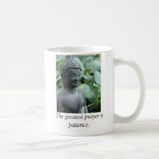 The greatest prayer is patience. basic white mug