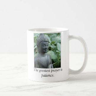 The greatest prayer is patience. basic white mug