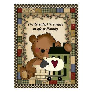 The Greatest Treasure Bear Postcard
