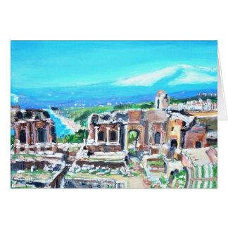 The Greek Amphitheater Ruins Card