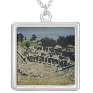 The Greek theatre Silver Plated Necklace