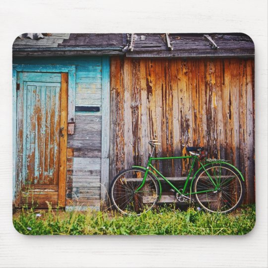 The Green Bicycle 1 Mousepad