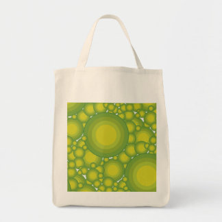 The Green bubbles Grocery Tote Bag