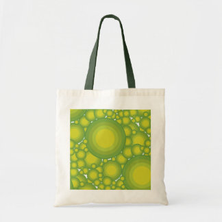 The Green bubbles Budget Tote Bag