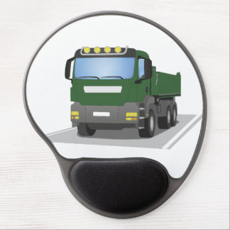 the Green building sites truck Gel Mouse Mat