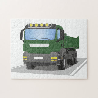 the Green building sites truck Jigsaw Puzzle