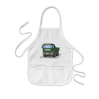 the Green building sites truck Kids Apron