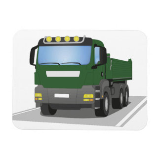 the Green building sites truck Magnet
