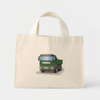 the Green building sites truck Mini Tote Bag