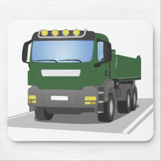 the Green building sites truck Mouse Mat