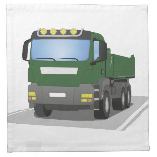 the Green building sites truck Napkin