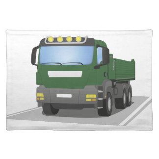 the Green building sites truck Placemat