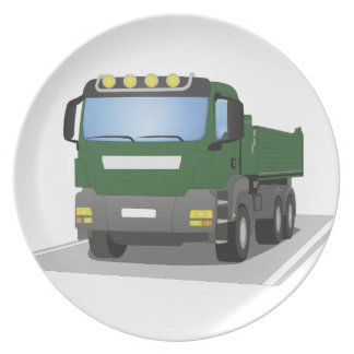 the Green building sites truck Plate