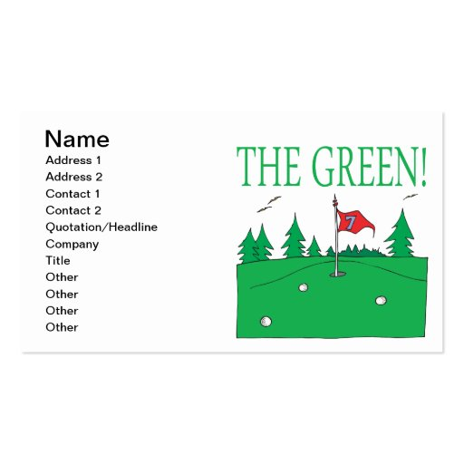 The Green Business Card Templates