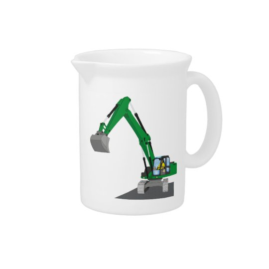 the Green chain excavator Beverage Pitchers