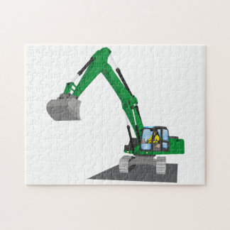 the Green chain excavator Jigsaw Puzzle