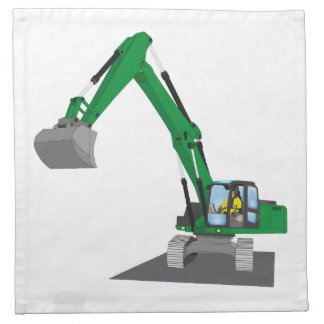 the Green chain excavator Napkin