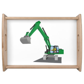 the Green chain excavator Serving Tray