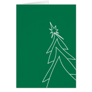 The Green Christmas Tree Card